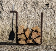 Square is the most simplistic Firewood Holder. As the name implies, it has a three-dimensional square shape, ideal for stacking firewood since it can support a large amount of cargo. It is designed with a 90º angle turned to the outside so you can suspend the accessories in the holder.  Dimensions (cm): Width: 47; Depth: 30cm; Height: 50cm Stacking Firewood, Firewood Holder, Wood Storage, Minimalist Design, Three Dimensional, Bronze, Shape, Metal, Silver