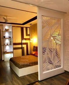 Find home projects from professionals for ideas & inspiration. Interior designing in chennai by Venza Home Decors Living Room Partition Design, Room Partition Designs, Room Door Design, Door Design Interior, Home Room Design, Living Room Designs, Interior Designing, Partition Ideas, Wardrobe Interior Design