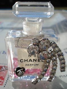 Vintage one of a kind Chanel PINK bottle