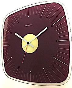 'minuteman' glass wall clock from joseph joseph, uk