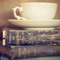 A couple of good books and some tea... what else do you need?  :)    Vignette by Nowordz Photography