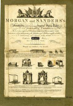 DRAFT Advertisement for Morgan & Sanders, cabinet makers