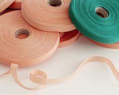 peach and emerald ribbon studio carta