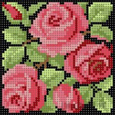 This Pin was discovered by Fot Beaded Cross Stitch, Cross Stitch Borders, Crochet Cross, Cross Stitch Rose, Cross Stitch Flowers, Modern Cross Stitch, Cross Stitch Charts, Cross Stitch Designs, Cross Stitching