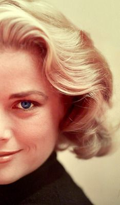 Grace Kelly:  In the 50s, there were two types of blonds in Hollywood: the HOT blond, symbolized by Marilyn Monroe... & the Cool Blond, .. epitomized by Grace Kelly.