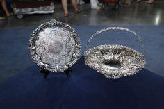 Silver Salver & Cake Basket  $6,000  –  $8,000