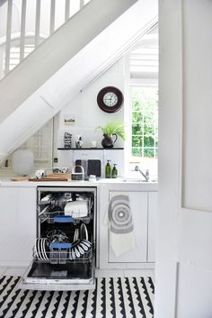 Scandinavian Kitchen With Dishwasher