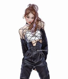 300322 Chaeryeong Fan Art by adaline. Fashion Illustration Dresses, Fashion Sketches, Blackpink Fashion, Classy Fashion, Instyle Magazine, Cosmopolitan Magazine, Kpop Drawings, Purple Wedding Invitations, Fanarts Anime