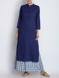 Buy Blue Pintuck Detailed Cotton Kurta Apparel Tunics & Kurtas Tales in Colour Assorted Pants Dupattas and more Online at Jaypore.com