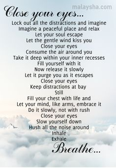 Script for deep breathing, relaxation or mindfulness based exercises