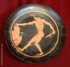 Plato. Cerámica griega. 18∅cm - Venta de cerámica griega
