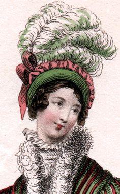 La Belle Assemblée, February 1818. Like her bonnet!