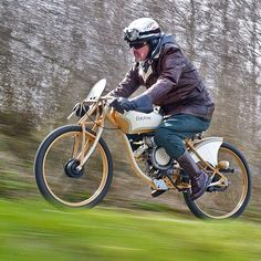 """""""The Hagman Speedster by @klumpas. This Puch moped takes it to another level."""