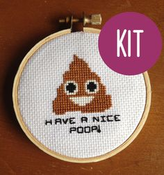 Hey, I found this really awesome Etsy listing at https://www.etsy.com/listing/204409217/cross-stitch-kit-mini-poop-emoji-cross
