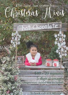 Hot cocoa stand Custom Large Handmade Upcycled Childs Lemonade Stand custom made Photography Prop ma Holiday Mini Session, Christmas Mini Sessions, Christmas Minis, Holiday Photos, Christmas Pictures, Xmas Pics, Holiday Ideas, Christmas Ideas, Christmas Tree