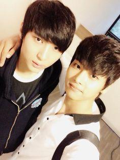 N [Hack yeon] and Leo Twitter Selca - VIXX