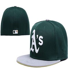 Wholesale Oakland #Athletics fitted hats baseball #cap full closure Athletics hats size flat-brim hat #Fitted Caps
