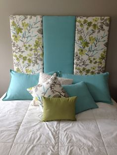 DIY headboard and pillows