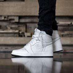 5ee786a345d50 Nike Air Jordan 1 Retro High OG (Perforated) Mens Sneakers [555088-100] UK  7.5 #Jordan #BasketballShoes