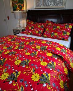 104 meilleures images du tableau lits pagne d cor africain imprim s africains et decoration - Housse de couette africaine ...