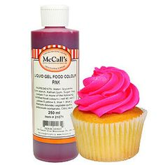 This gel liquid fuchsia food colour is a concentrated formula which gives a pink colour. Gel Color, Pink Color, Colour, Gel Food Coloring, Whipped Topping, Desserts, Color, Whip Frosting, Tailgate Desserts