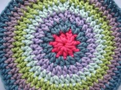 How to crochet a flat circle.