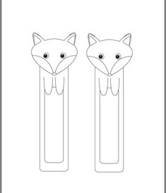 Segnalibri fai da te: la volpe - Printable Fox Bookmarks - DIY Bookmarks - Easy Peasy and Fun Fox Crafts, Diy Arts And Crafts, Crafts For Kids, Paper Crafts, Paper Bookmarks, Bookmarks Kids, Homemade Bookmarks, Wall Clock Sticker, Felt Bookmark