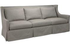 Lee Industries 1011-03 Sofa in mushroom colored linen - Available through Minor Details Interior Design.  http://minordetailsdesign.com/#home