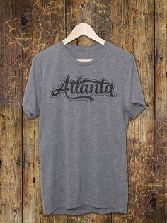 Atlanta T-Shirt - Atlanta Vintage Clothing - Atlanta Vintage T-Shirt- Gifts - Retro Atlanta Script Text - Vintage Graphic Tees - Atlanta shi