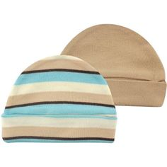 Walmart.com Touched By Nature 100% Organic Cotton Newborn Baby Clothes Boy or Girl Unisex Cap 2-Pack