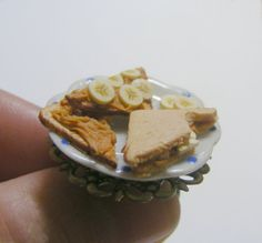 Scented or Unscented Peanut Butter and Banana Sandwich Miniature Food Ring - Miniature Food Jewelry,Handmade Jewelry Ring on Etsy, $21.47