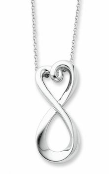 Lex /& Lu Sterling Silver w//Rhodium 2-Strand Infinity Anklet