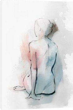 Isabelle Z - Pastal Woman II - Personnes - Collection de toiles