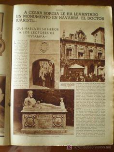 ESTAMPA # 413 (12/14/35).  Cesare Borgia Monument