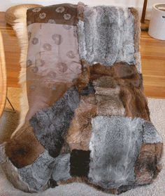 The Coat Check - Guilt-free Genuine Fur Throws, 100% Recycled from Clean Vintage Fur Coats