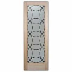 Doors Glass French Frosted Glass Door 2/0 x 6/8 1 3/8 Thick Wooden