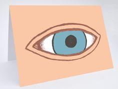 Eye Greetings Card £2.50 #eye #eh #greetingscard #blue #card #emilyhayes #design
