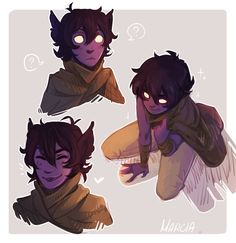 "Marcia's Art Blog  a desert-ish galra keef wearing the obligatory ""I-ran-away-and-Im-hiding"" cape"