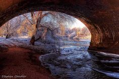 Very wintry view from under the bridge by the River Eden, Carlisle, Cumbria, England. Cityscape Photography, Amazing Photography, Landscape Photography, Nature Photography, Photography Ideas, Carlisle England, Carlisle Cumbria, River I, World View