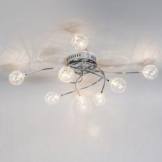 Deckenleuchte Soap 8 Chrom Deckenlampe Lampe Innenbeleuchtung Wohnzimmerlampe