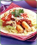 Tacos mous aux bâtonnets de poisson