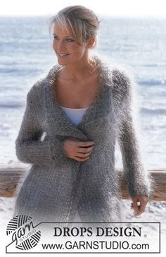 61 Best Ideas For Crochet Sweater Cardigan Pattern Drops Design Knitting Blogs, Knitting Patterns Free, Knit Patterns, Free Knitting, Free Pattern, Drops Design, Drops Patterns, Make Your Own Clothes, Mohair Sweater