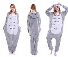 9d662a8264 kigurumi grey Totoro onesies animal pajamas for adults