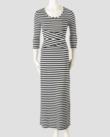 Petite Mixed Strip Maxi Dress, Main View