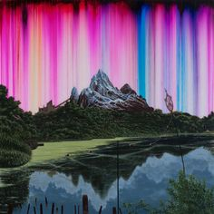 Synthetic Landscape 51 (Yeti) - Shane McAdams - Brooklyn-based artist and writer.  Uses ink extracted from ballpoint pens for a lot of his art