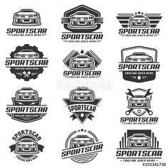 Vector: Car Logo design, Sports Car logo vector, black