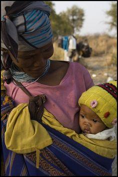 Mother and Child, Kalahari, Namibia