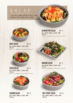 Ideas For Design Menu Restaurant Brochures Food Menu Design, Restaurant Menu Design, Japanese Restaurant Menu, Restaurant Poster, Restaurant Identity, Restaurant Menu Template, Noodles Menu, Korean Menu, Cafeteria Menu