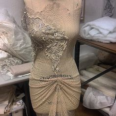 #azzariabridal More work in progress, draping sneak peeks. LOVING our new collection, Azzaria Haute Couture by Zara.