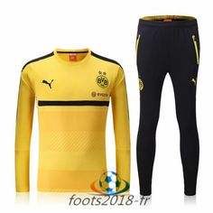 Nouveau Survetement de foot Dortmund BVB Jaune 2016 2017